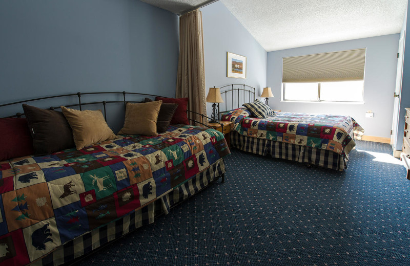 Guest bedroom at Black Bear Lodge.