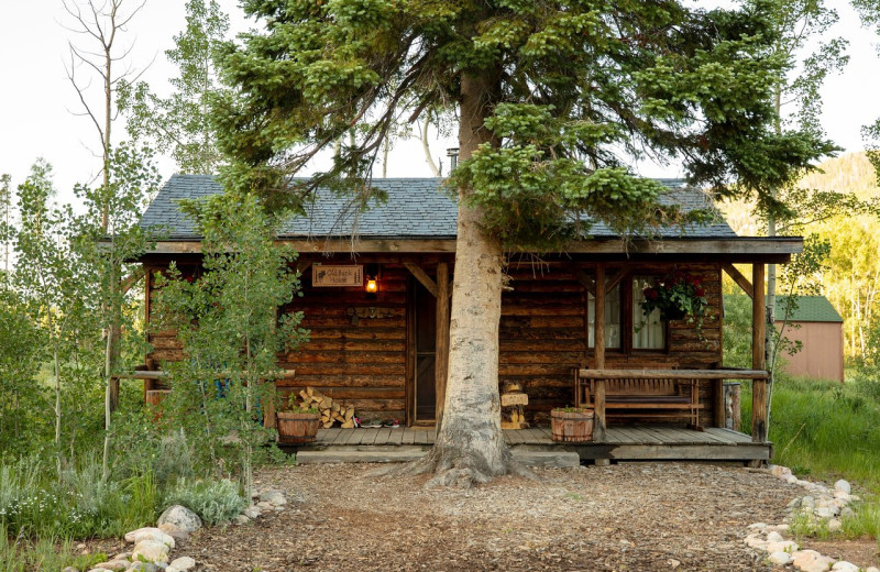 Cabin exterior at Rawah Guest Ranch.