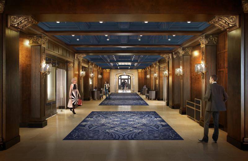 Hallway at Fairmont Le Chateau Frontenac.
