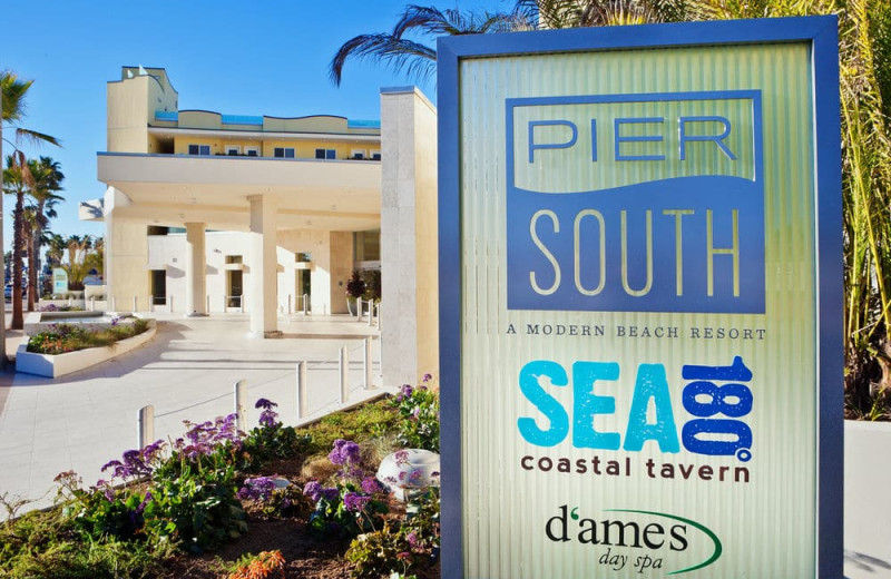 Exterior view of Pier South Resort.