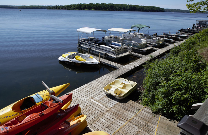 Boats at Southview Cottages Resort.