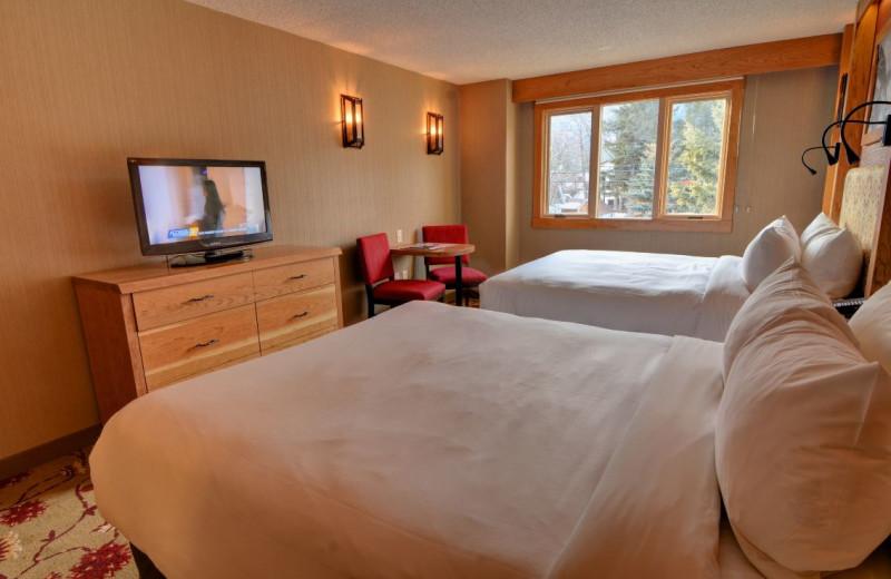 Guest room at Banff Ptarmigan Inn.