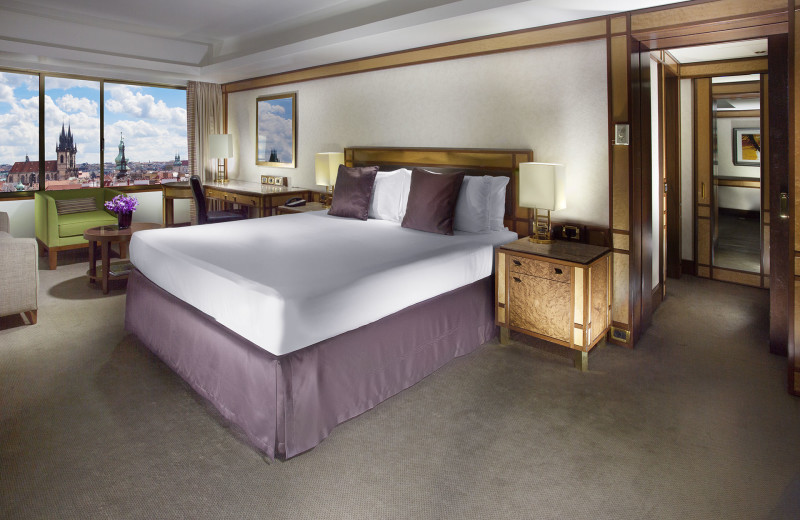 Guest room at InterContinental Praha.