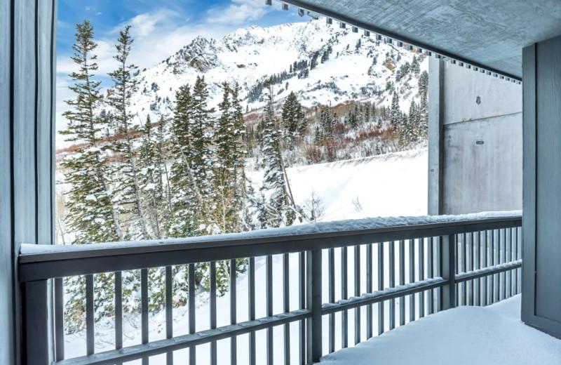 Rental balcony at Canyon Services Vacation Rentals.