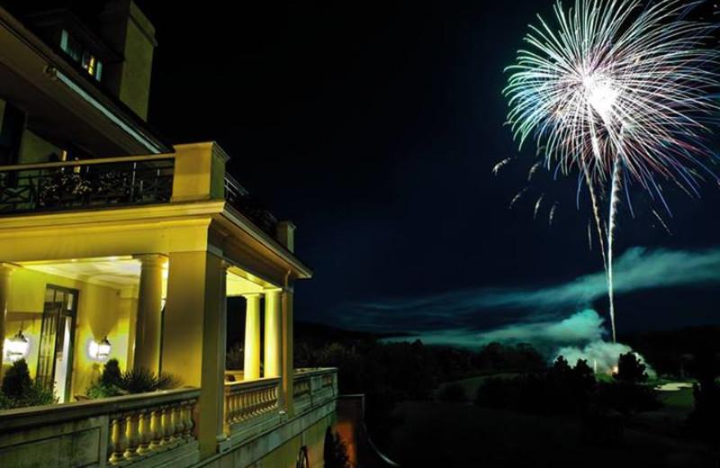 Fireworks at Keswick Hall.
