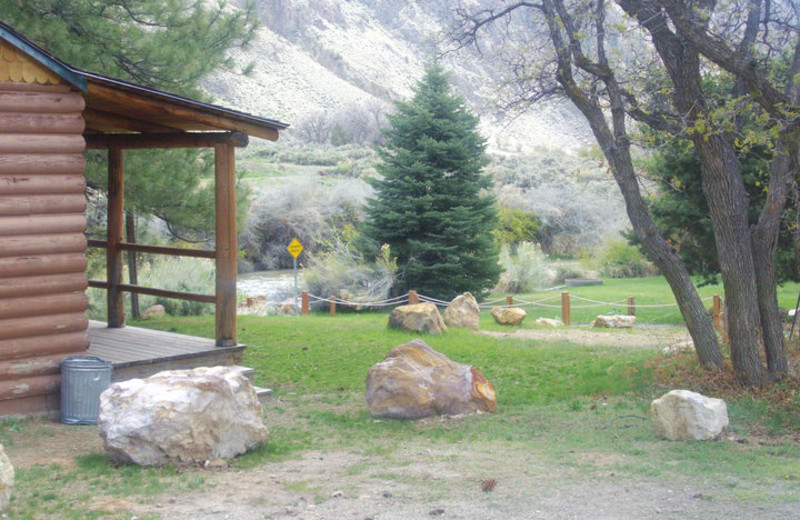 River front cabin at Big Rock Candy Mountain Resort.