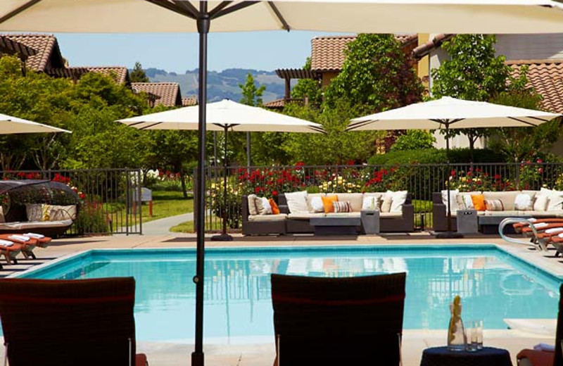 Outdoor pool at The Lodge at Sonoma Renaissance Resort & Spa.