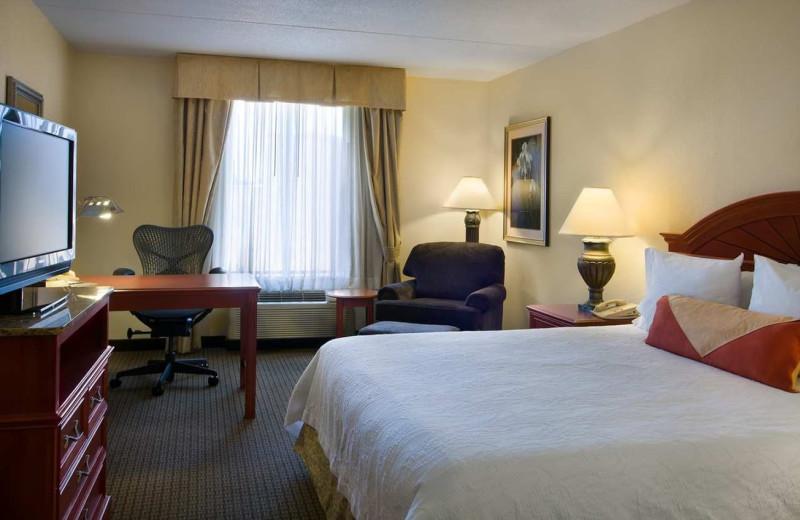 Guest room at Hilton Garden Inn Detroit Downtown.