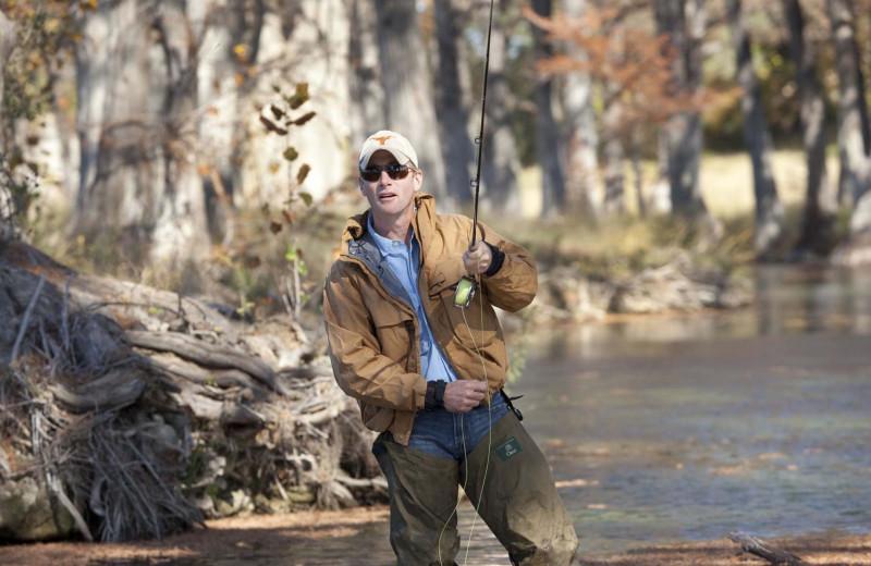 Fishing at Joshua Creek Ranch.