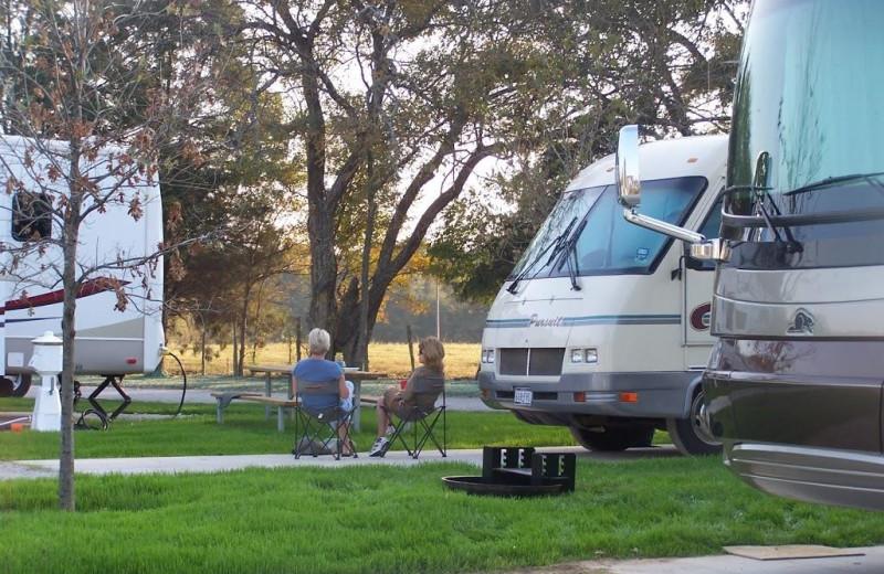 RV campground at Mill Creek Ranch Resort.