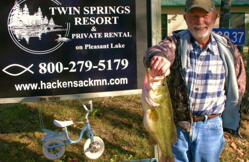 Fishing at Twin Springs Resort.