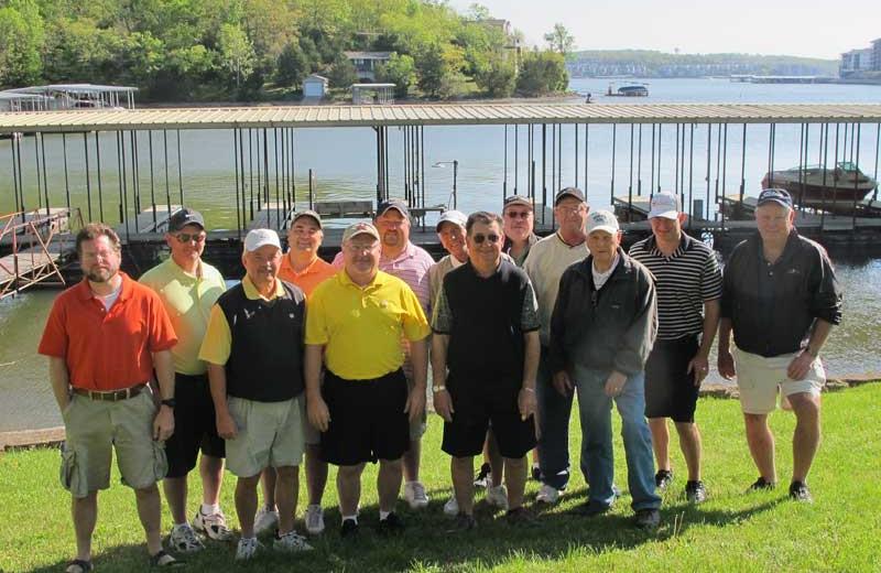 Golf group at Point Randall Resort.