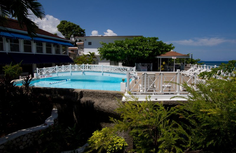 Outdoor pool at Hibiscus Lodge.