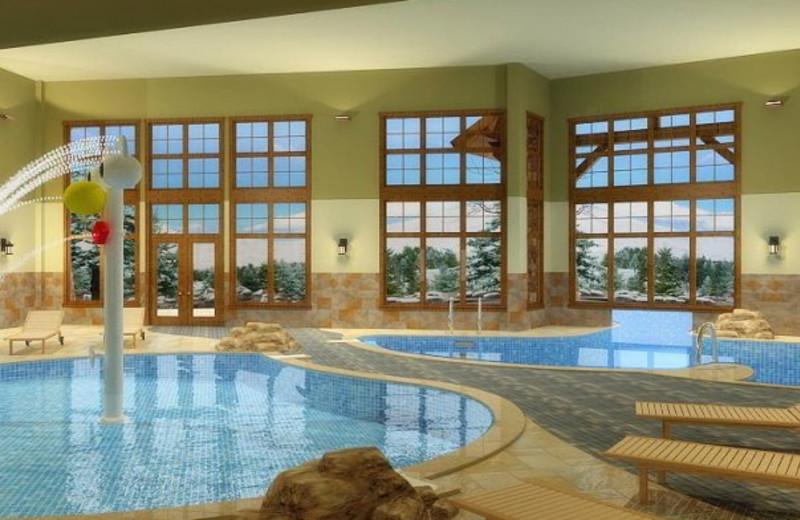 Indoor pool area at Grand Lodge on Peak 7.