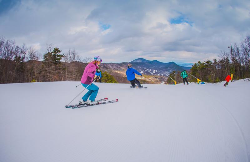 Skiing at Massanutten Resort.
