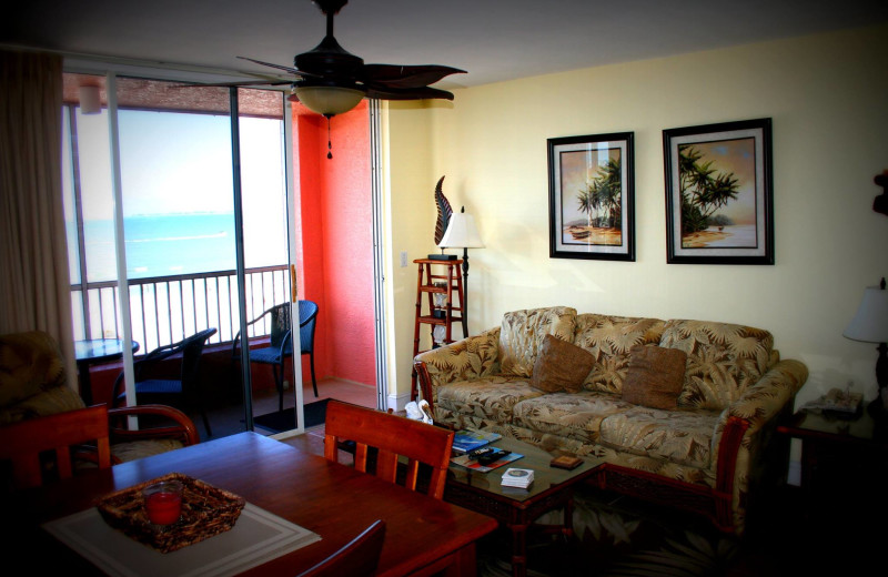 Guest living room at Casa Playa Resort.