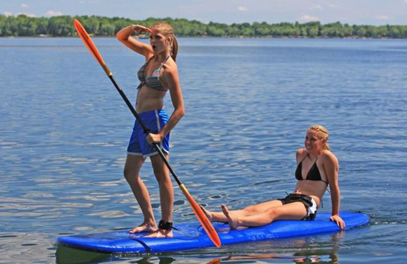Paddle boarding at Big McDonald Resort.