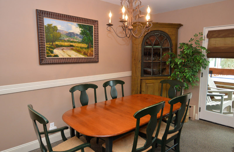 Rental dining room at Frias Properties of Aspen - Fasching Haus #180.