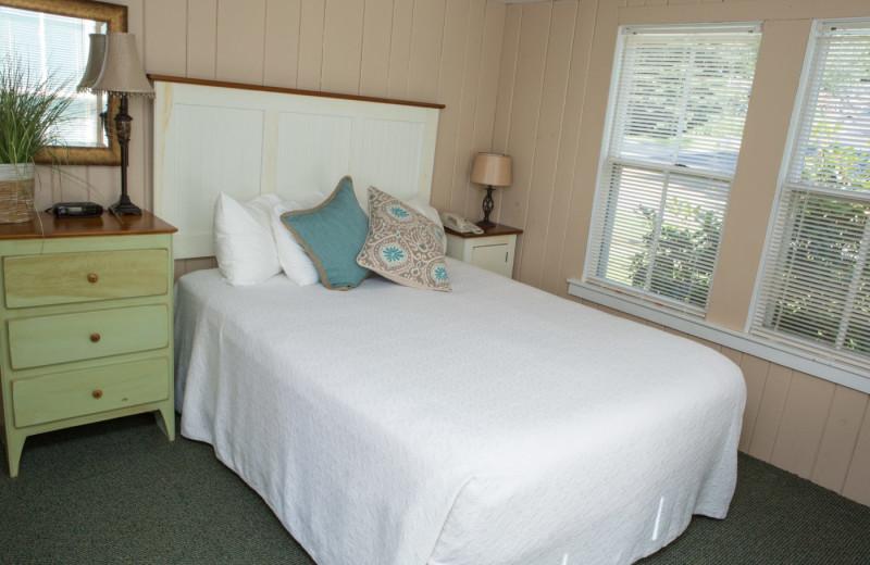 Cottage bedroom at Naswa Resort.