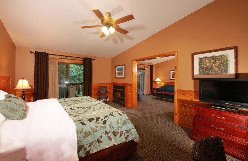 Guest room at Oakwood Resort.