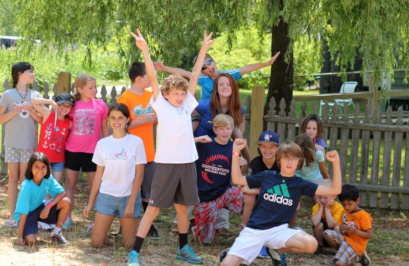 Kid's groups at Sebasco Harbor Resort.