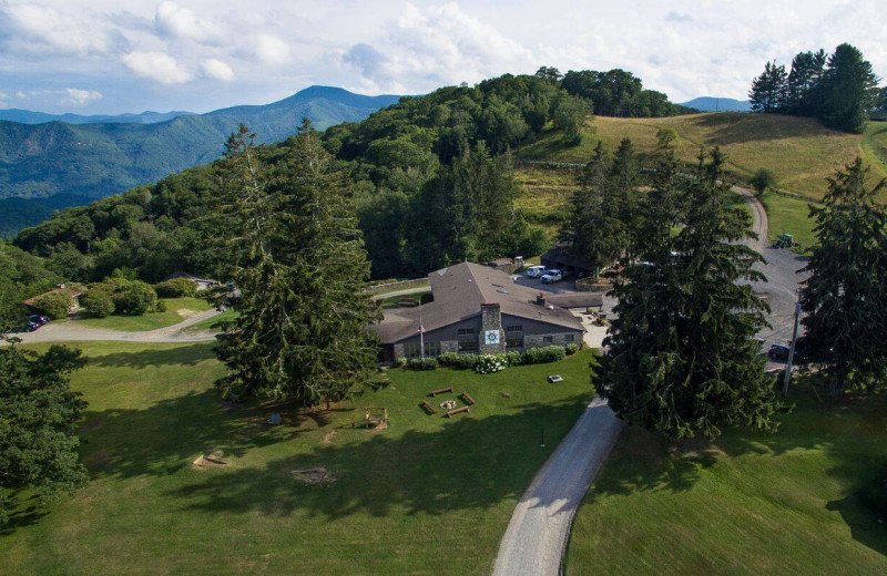 Aerial view of Cataloochee Ranch.