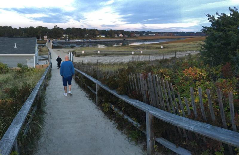Hiking at Footbridge Beach Motel.