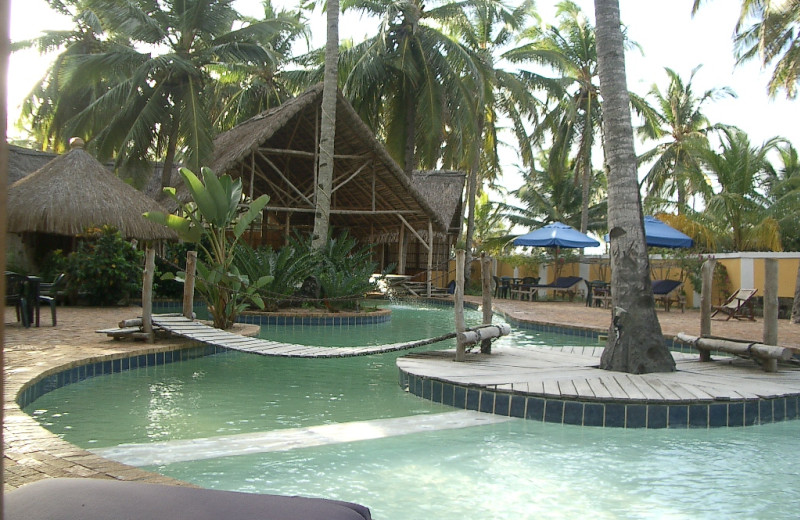 Outdoor pool at Barra Lodge.
