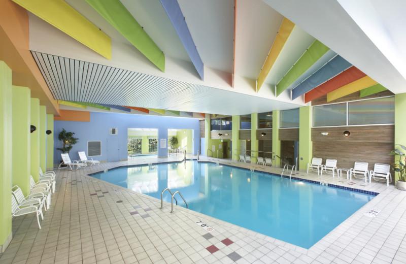 Indoor pool at Heidel House Resort.