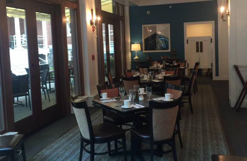Dining room at Inn at Diamond Cove.