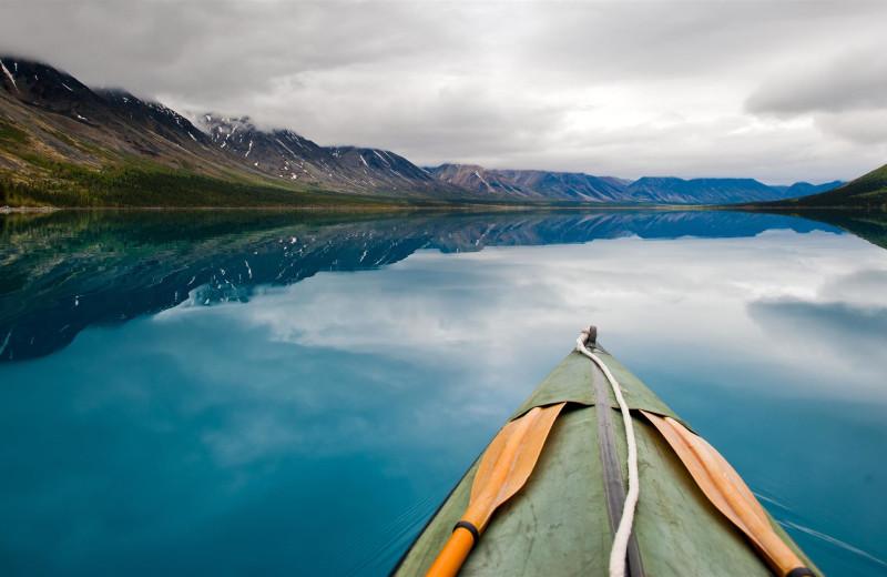 Kayaking at Black Wolf Lodging.