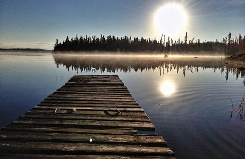 Dock view at Uchi Lake Lodge.