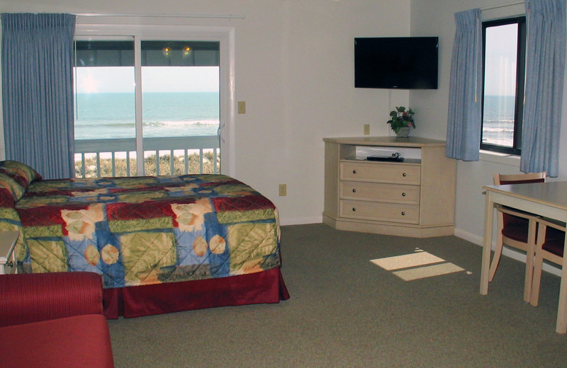 Guest room at Beach House Inn and Suites.