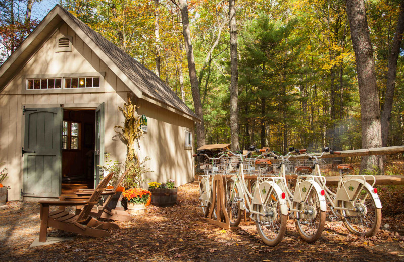 Bikes at The Lodge at Woodloch.