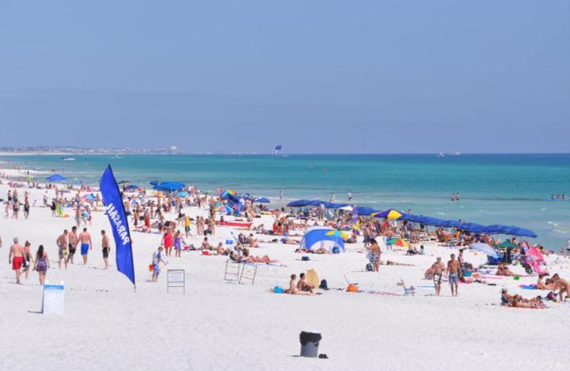 People on beach at Seascape Resort.