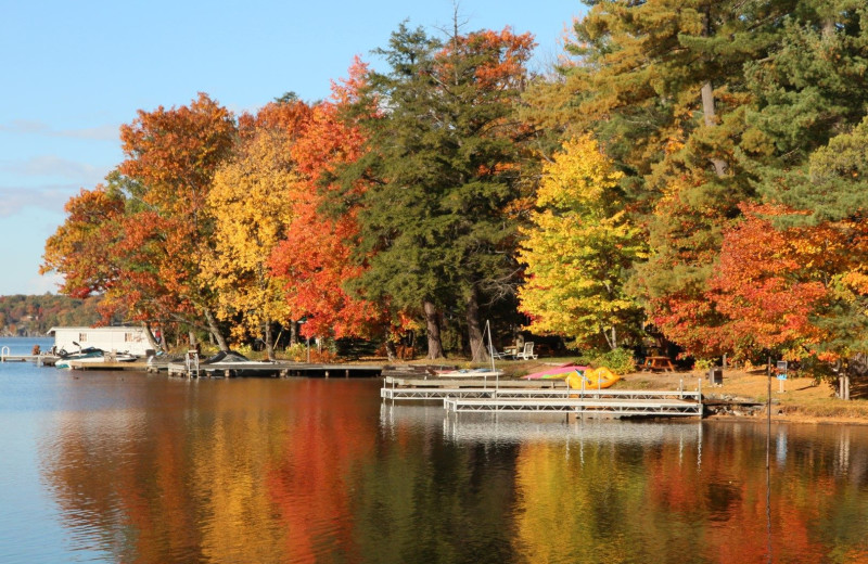 Fall colors at Patterson Kaye Resort.