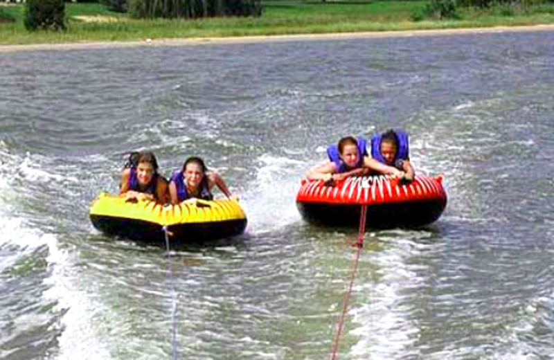 Water tubing at Prizer Point Marina & Resort.