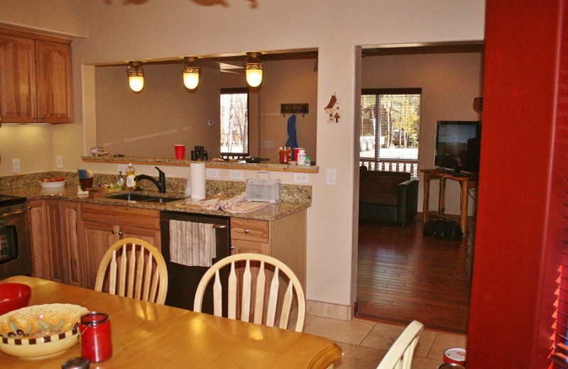 Kitchen/Living Area at Tall Pines Getaway