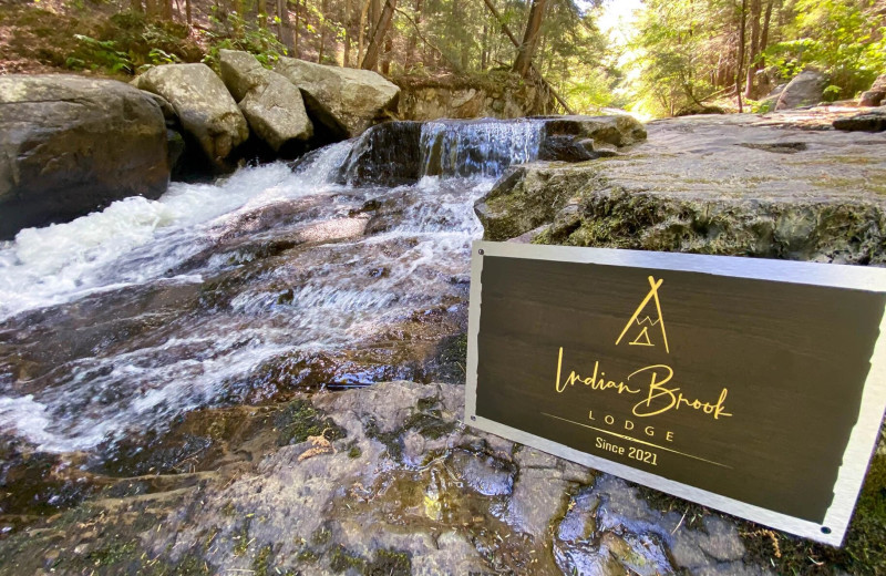 Waterfall at Northern Living - Luxurious Vacation Rentals.