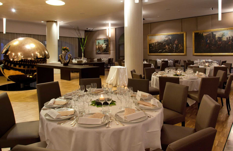 Dining at Parkhotel Ai Cappuccini.