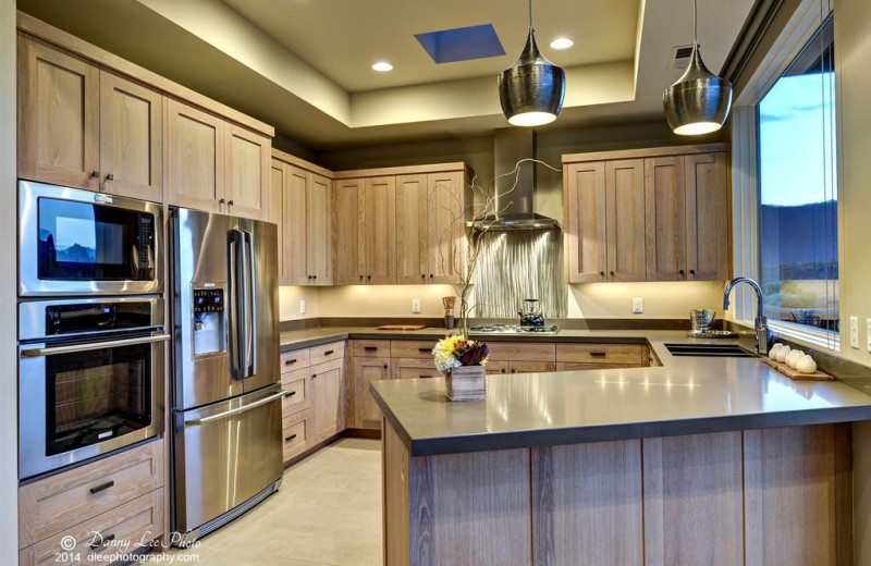 Guest suite kitchen at The Inn at Entrada.