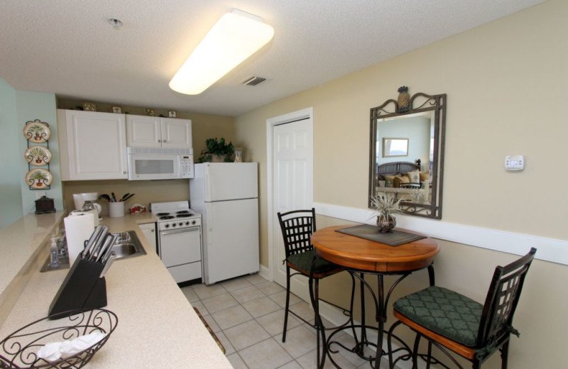 Rental kitchen at Schulstadt Rentals.