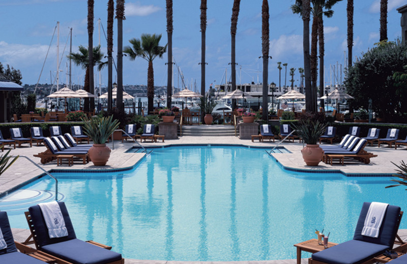 Outdoor pool at The Ritz-Carlton, Marina del Rey.