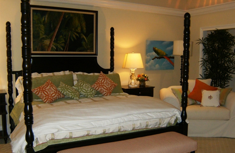 Guest room at Romora Bay Club.