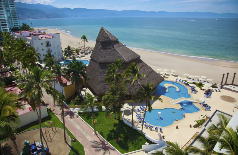 Beach view at Krystal Vallarta.