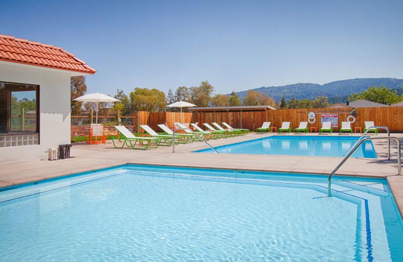 Outdoor pool at The Sunburst Calistoga.