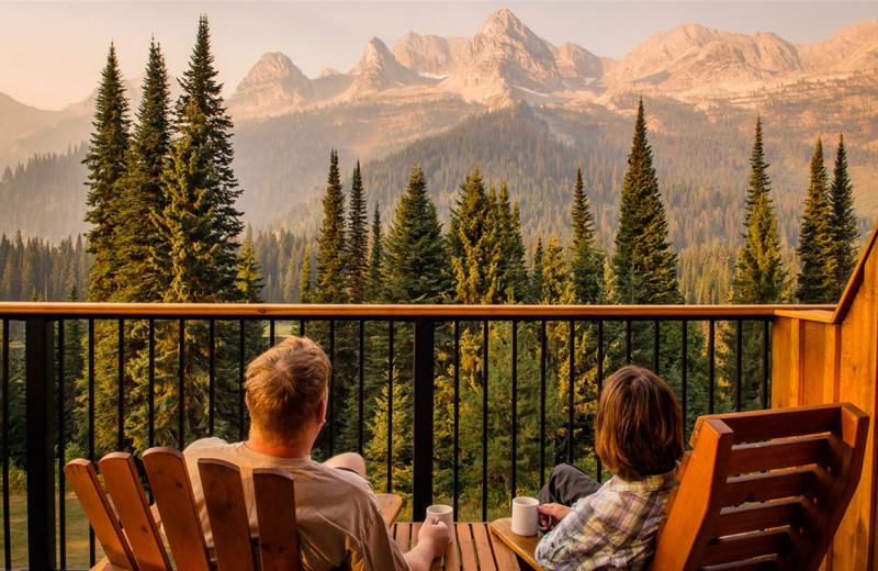 Balcony at Island Lake Lodge.