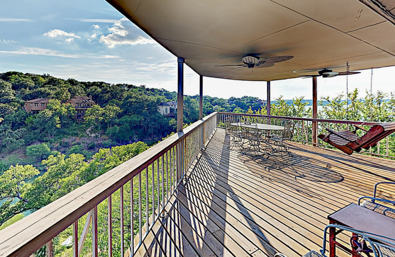 Rental deck at Burnet County Tourism.