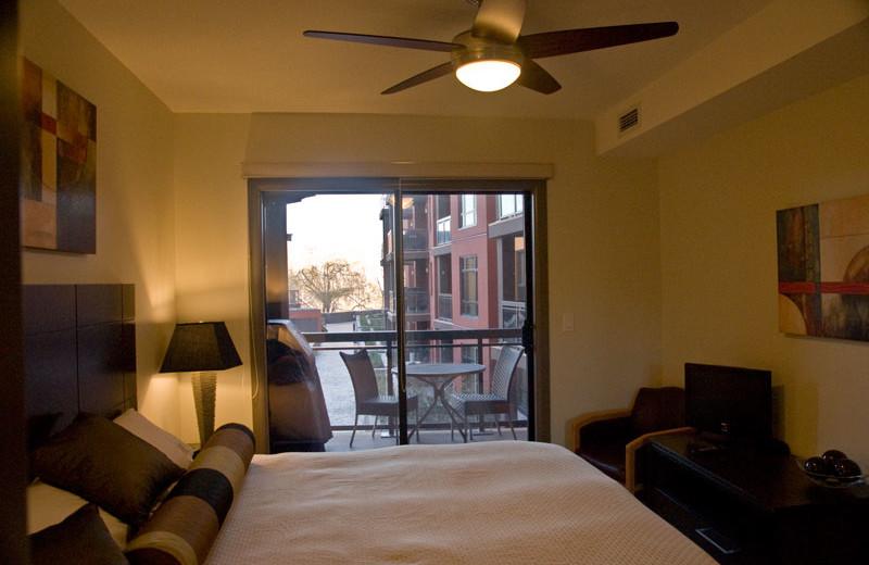 Rental bedroom at realTopia Vacation Rentals.