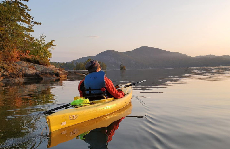 Canoeing at Trout House Village Resort.